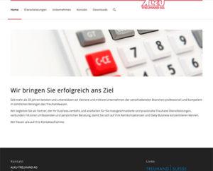 Webseite ALKU Treuhand