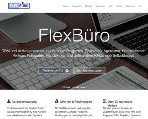 Webseite FlexBüro
