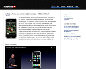 Webseite MacWeb